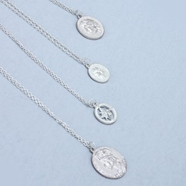 Silver Color Coin Lariat Necklace for Women