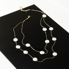 Chain Necklace Pearl Female Necklaces