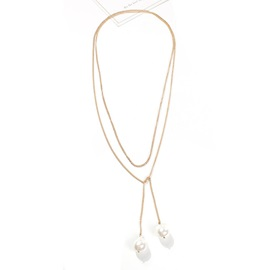 Pendant Pearl Inlaid Female Necklace
