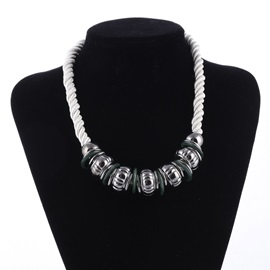 Ethnic Sliver Choker Necklace