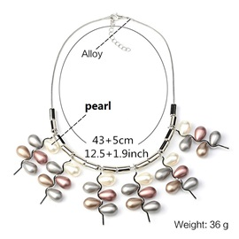 Pendant Color Block Pearl Necklaces
