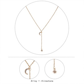 Diamante Pendant Necklace Sweet Female Necklaces