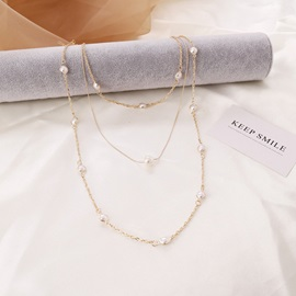 Pearl Inlaid Sweet Chain Necklace Female Necklaces