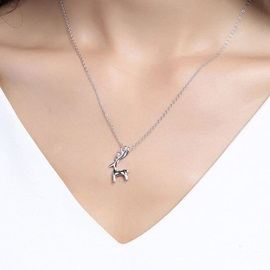 Christmas Chain Necklace Korean Animal Female Necklaces