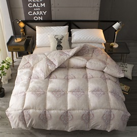 European Scrolls and Floral Pattern Winter Thick Quilt