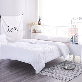 Wannans White Modern Style Polyester Filling Winter Quilt