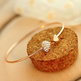 Gold-plated Love Crystal Bracelet