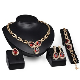 Chic Rhinestones Women Jewelry Set