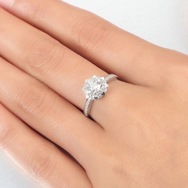 Graceful 925 Silver with Zircon Women Ring