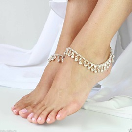 Casaul Alloy E-plating Women Anklets ( Price for a Pair )