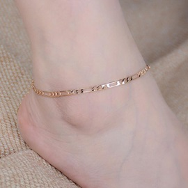Graceful E-plating Chain Design Anklet