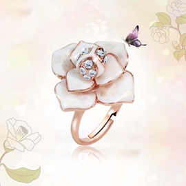 Splendid Flower Adjustable Women's Ring