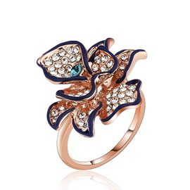 Vogue Diamond Flower Silver Ring