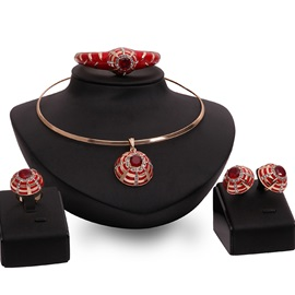 Wonderful Party Four Pieces Jewelry Set