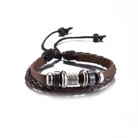 Brown Leather Vintage Style Bracelet
