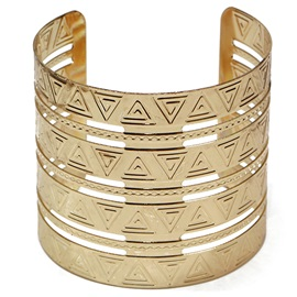 Golden Plated Opening Wide Bracelet