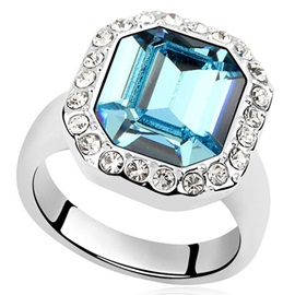 Square Cut Imitation Crystal Women's Ring