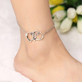 Двойной сплав Heart-Shaped Design Chain Anklet