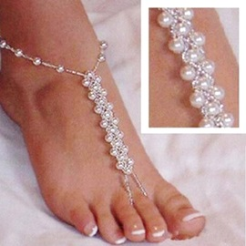 Hot Sale Artificial Pearls Beading Anklet