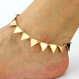 Punk Golden Trangle Alloy Slice Simple European Anklets