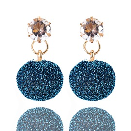 Ball Rhinestone Alloy Shining Earrings