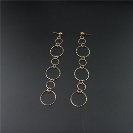 Korean Style Hollow Out Wave Circle Earrings