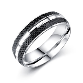 Simple Titanium Steel E-plating Index Finger Men Rings