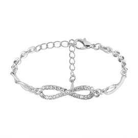 Cross Full Drill Shinning Chain Simple Alloy Bracelets & Bangles