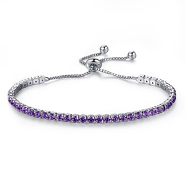 Full Drill Ultra Violet Alloy Bracelet