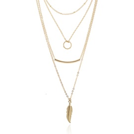 Geometric Concise Multi-layer Snake Chain Necklace