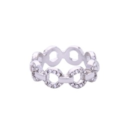 Hollow Rhinestone Decorated Annular Rings