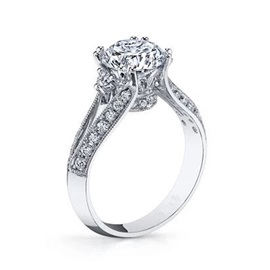 Classic Zircon Design 925 Sterling Silver Wedding Ring