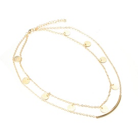 Concise Copper Double Layer Clavicle Chains