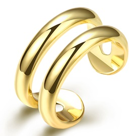 European Concise Gold-Plated Opening Ring