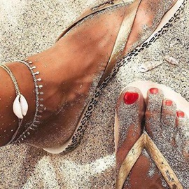 Seaside Chains Shell Decorated Multi-Layer Anklets