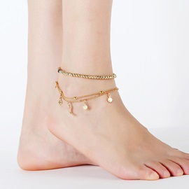 Sweet Star Pendant Metal Multi-Layer Anklets