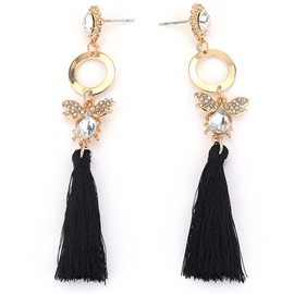 Butterfly Shape Tassel Alloy Party Earrings