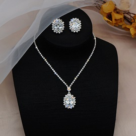 Earrings European Diamante Engagement Jewelry for less Sets