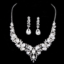 Diamante Necklace Water Drop Engagement Jewelry from china Sets
