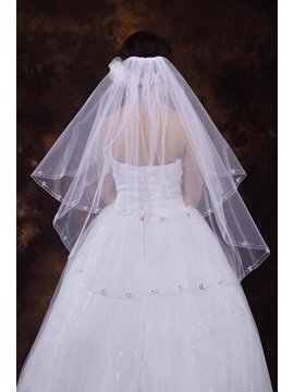 Elbow Beaded Wedding Veil