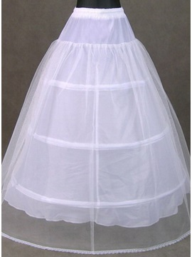 Superior White Ball Gown Tulle Wedding Petticoat