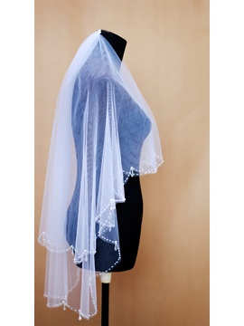 Fingertip Tull Wedding Bridal Veil