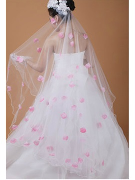 Flower Petal Tulle Wedding Veil