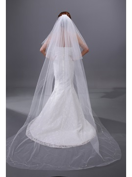Enchanting Two Layers Chapel Wedding Bridal Veil