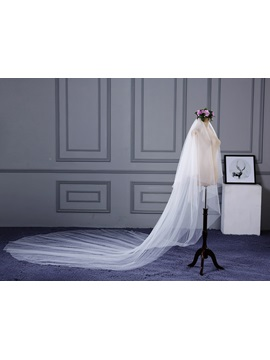 Pure Two-Layer Tulle Wedding Veil