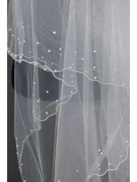 Extravagant Cathedral Wedding Bridal Veil with Beaded Edge