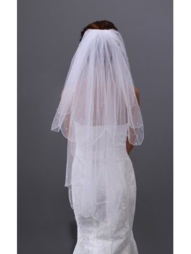 Shinning Two Layers Wedding Brail Elbow Veil