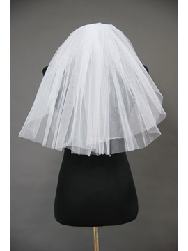 Plain 2 Layers Short Wedding Bridal Veil