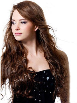 Custom Long Curly Hairstyle 100% Remy Human Hair Hand-Tied Full Lace Wig about 24 Inches