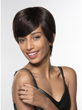 Mishair® Short Capless 100% Human Hair Wig 6 Inches